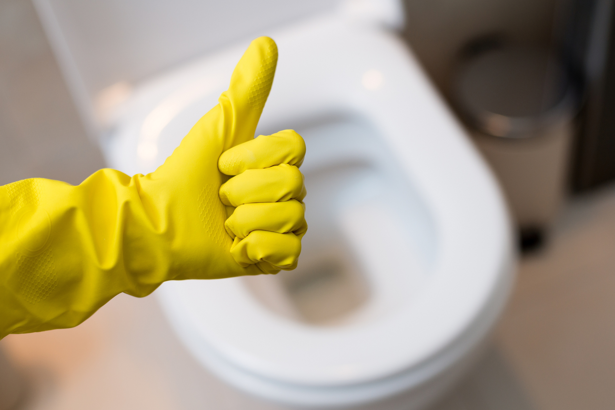 Thumbs Up Toilet