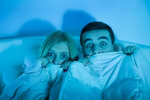 Couple scared