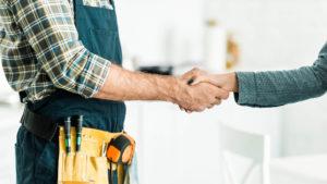 Plumber Handshake